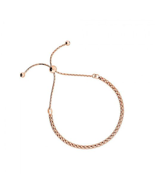 Azendi - Metallic Silver And Rose Rounded Adjustable Chain - Lyst