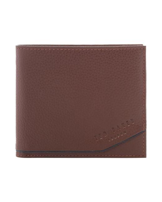 Ted Baker | Brown Persia Coloured Leather Bi-fold Wallet for Men | Lyst
