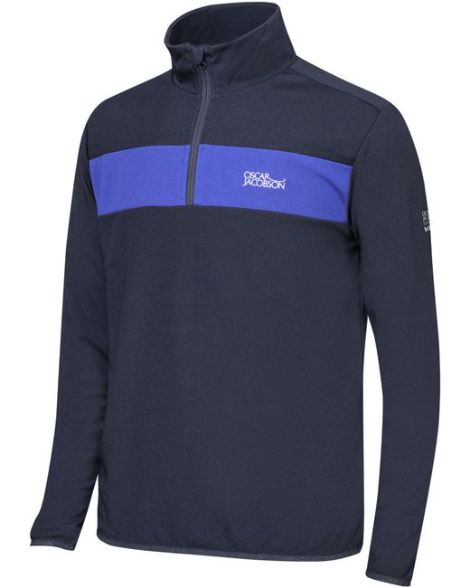Oscar Jacobson | Blue Dreyfuss Tour Half Zip for Men | Lyst