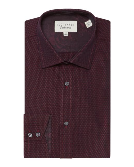 Ted Baker | Red Men's Blime Sterling Pin Dot Shirt for Men | Lyst