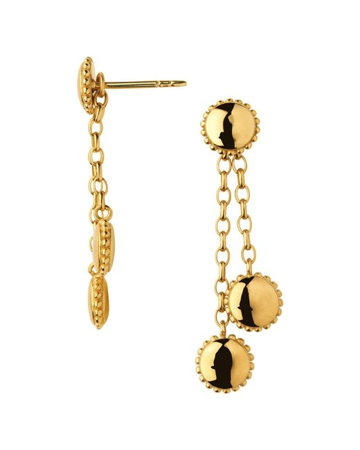 Links of London - Metallic Amulet 18kt Gold Vermeil Drop Earrings - Lyst