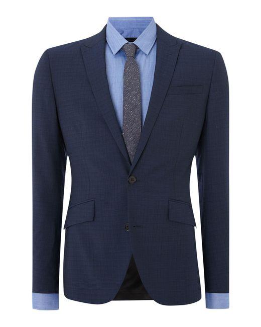 Kenneth Cole - Blue Hendrickson Grid Pattern Slim Fit Suit Jacket for Men - Lyst