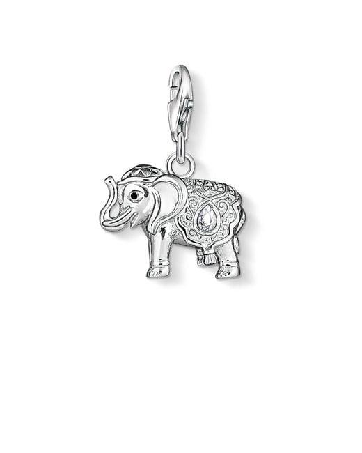 Thomas Sabo | White Charm Club Elephant Pendant | Lyst