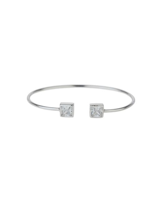 Mikey - Metallic Sterling Silver 925 Twin Square Bangle - Lyst