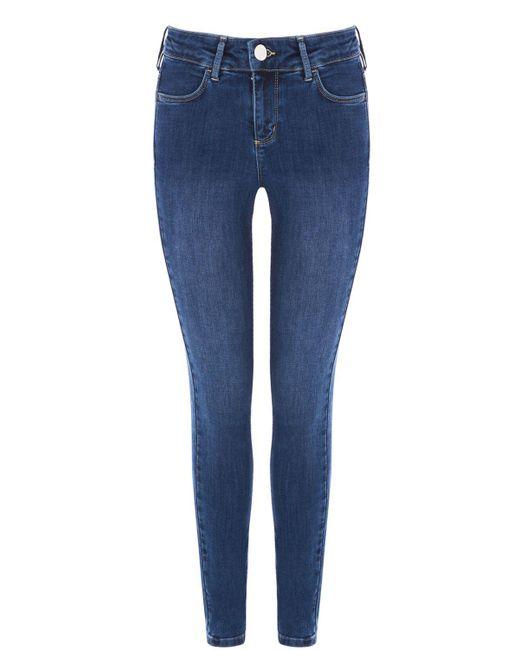 Oasis - Blue Mid Wash Jade Jeans - Lyst
