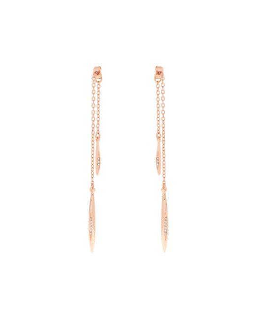 Karen Millen - Metallic K9372402 Flow Drop Crystal Earrings - Lyst