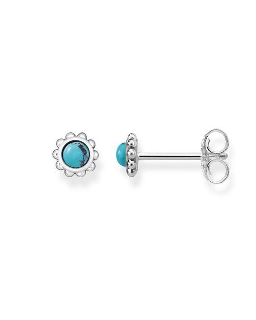 Thomas Sabo | Blue Mini Ethno Flower Turquoise Ear Studs | Lyst