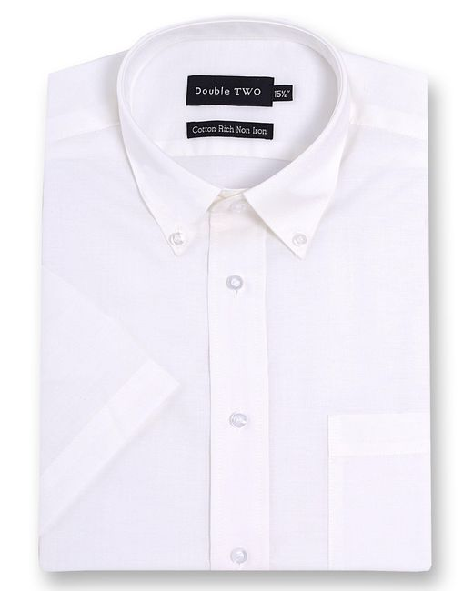 Double Two - White Half Sleeve Oxford Formal Shirt for Men - Lyst