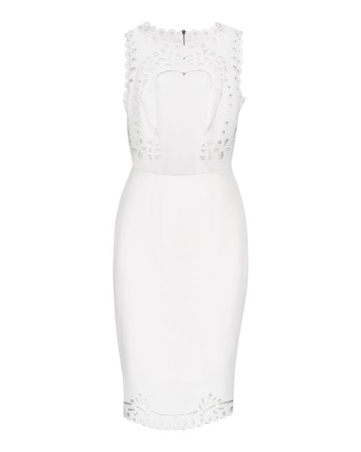 Ted Baker | White Verita Cut-work Bodycon Dress | Lyst