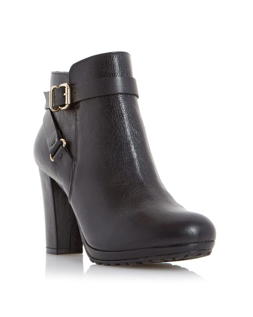 Dune - Black Rosalind Leather Mid-calf Boots - Lyst