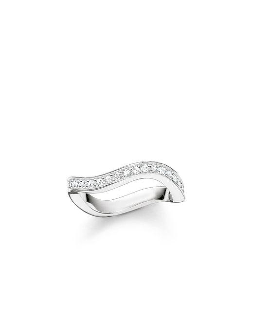 Thomas Sabo - Metallic Glam & Soul Silver Wave Ring - Lyst