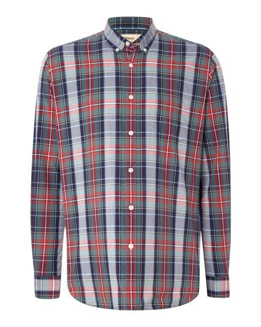 Tm Lewin - Red Check Button Down Shirt for Men - Lyst