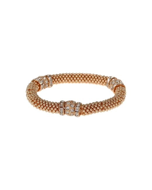 Mikey - Metallic Metal Chain Crystal Cylinder Bracelet - Lyst