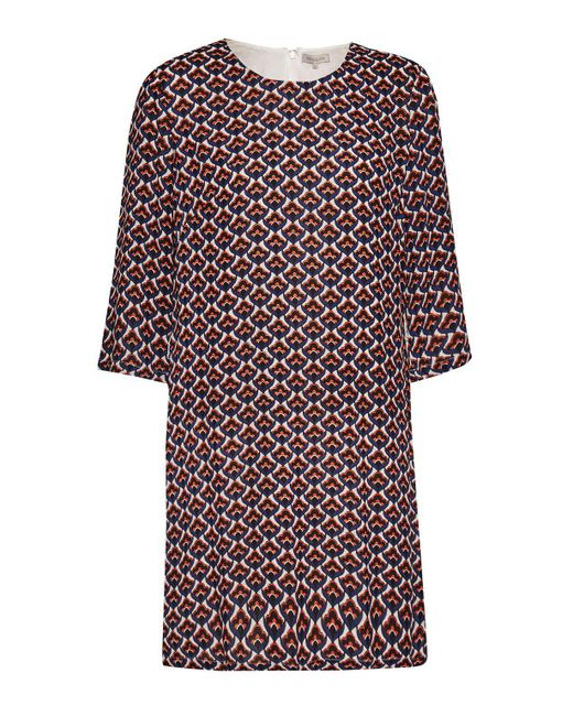 Great Plains | Red Malmo Contrast Belt Tunic Dress | Lyst