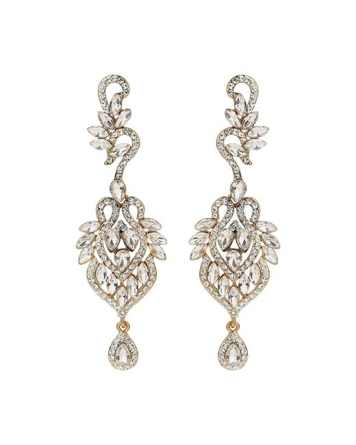 Mikey - Metallic Filigree Cubic Hook Drop Earring - Lyst