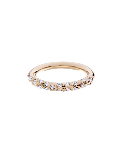 Karen Millen | Metallic Gold & Crystal Sprinkle Ring | Lyst
