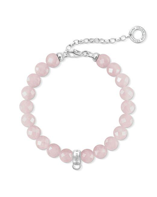 Thomas Sabo - Charm Club Pink Quartz Charm Bracelet - Lyst