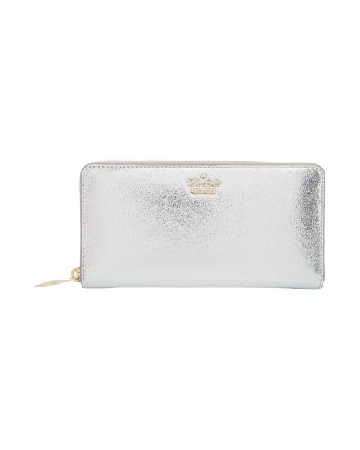 Kate Spade | White Highland Drive Lacey Zip Around Wallet | Lyst