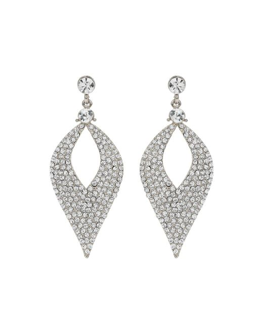 Mikey - Metallic Eclipse Design Crystal Studded Earring - Lyst