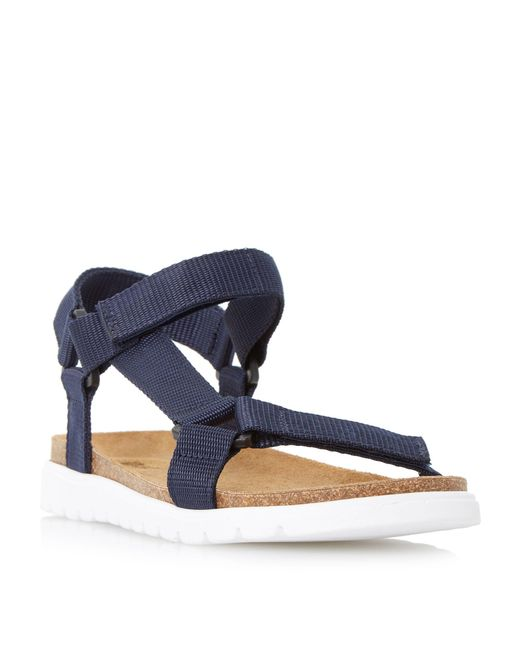 Dune - Blue Navy 'iggy' Rip Tape Adventure Sandals - Lyst