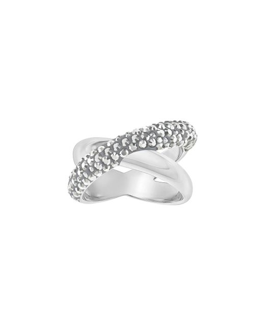 Swarovski | Gray Crystaldust Cross Ring | Lyst