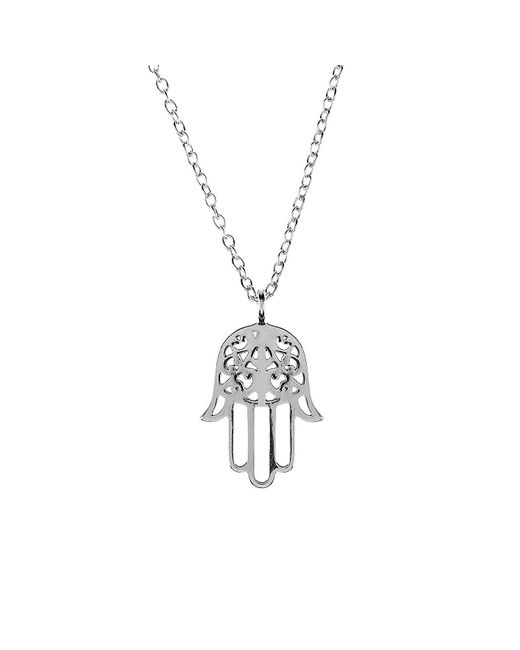Latelita London - Metallic Cosmic Hamsa Necklace Silver - Lyst