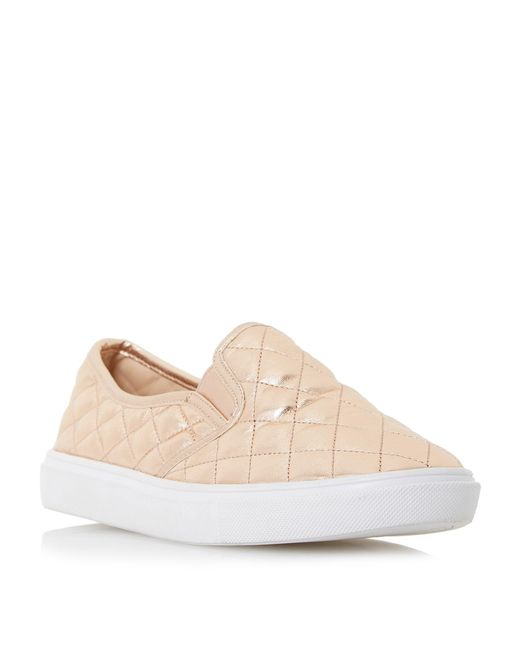Dune - Pink Elsaa Q Quilted Slip On Trainers - Lyst