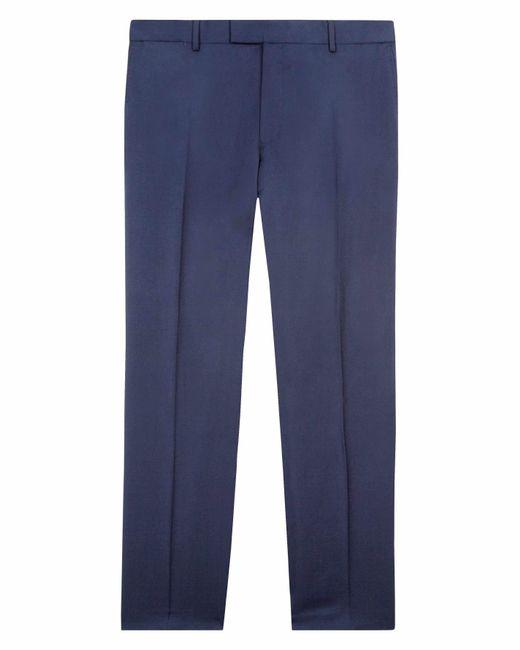 Jaeger - Blue Men's Regular Plain Twill Trouser for Men - Lyst
