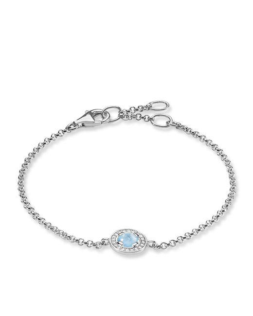Thomas Sabo - Blue Light Of Luna Milky Aqua Silver Bracelet - Lyst