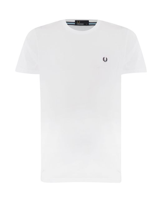 Fred Perry | White Short-sleeved T-shirt for Men | Lyst