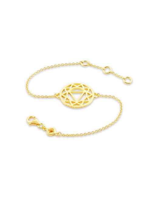 Daisy London - Metallic Solar Plexus Chakra Chain Bracelet - Lyst