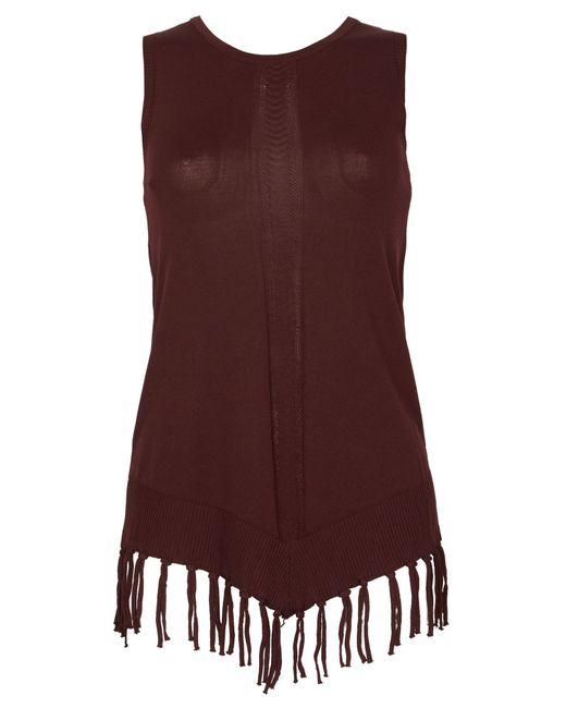 Izabel London | Red Sleeveless Knit Vest | Lyst