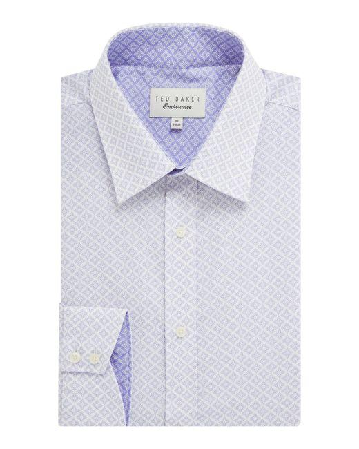 Ted Baker - Purple Men's Snaper Leaf Diamond Endurance Shirt for Men - Lyst