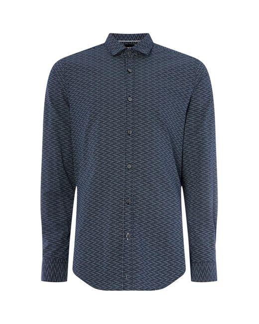 BOSS Blue Lucky Dotted Shirt for men