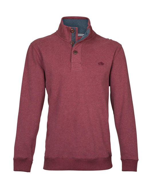 Raging Bull | Red Button-up Jersey Sweater for Men | Lyst