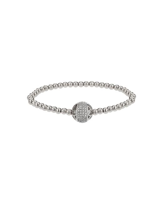Mikey - Gray Filigree Solid Crystal Bead Bracelet - Lyst