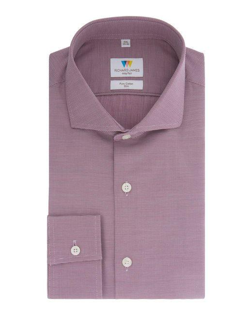 Richard James   Purple Red Ottoman Shirt for Men   Lyst