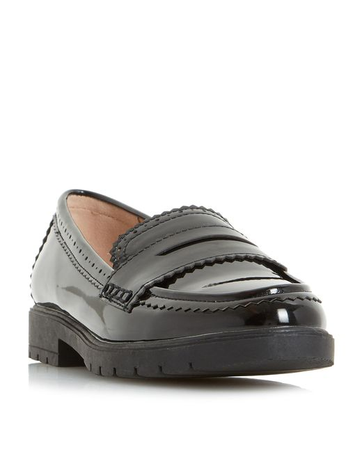 Dune | Black Gemm Cleated Tassel Loafers | Lyst