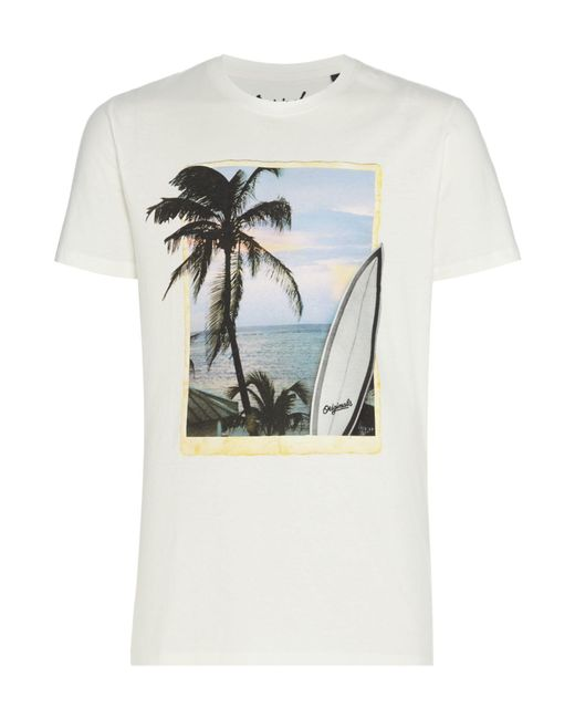 Jack & Jones - White Men's Jorhorizon Print T-shirt for Men - Lyst