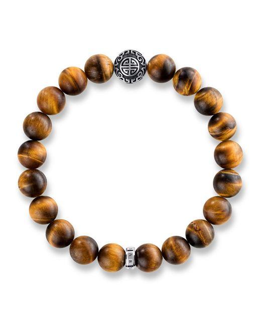 Thomas Sabo - Brown Rebel At Heart Mala Tiger`s Eye Bracelet - Lyst