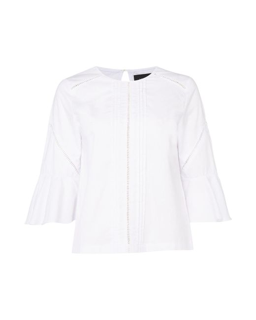 MINKPINK | White Casablanca 3/4 Sleeve Blouse | Lyst