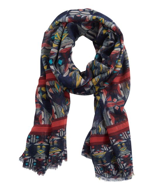 Betty & Co. - Multicolor Graphic Print Scarf - Lyst