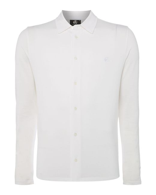 PS by Paul Smith   White Button Down Logo Polo Shirt for Men   Lyst
