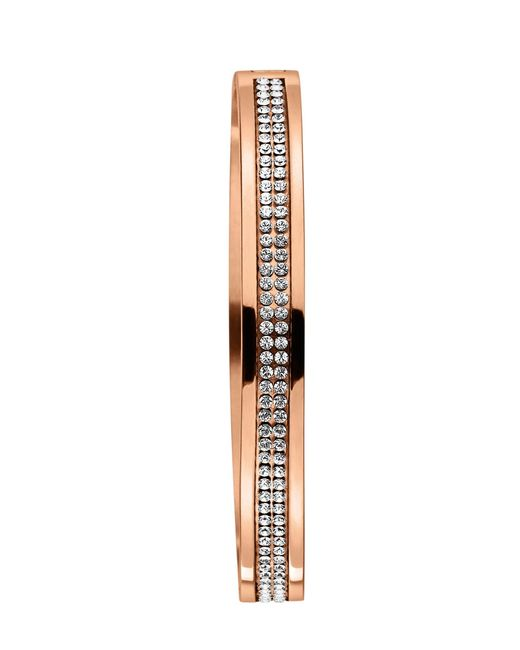 Dyrberg/Kern | Pink Lorbel Rose Gold Crystal Bangle | Lyst