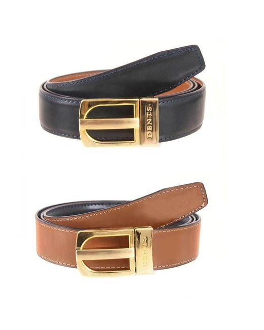 dents mens leather belt in blue for lyst