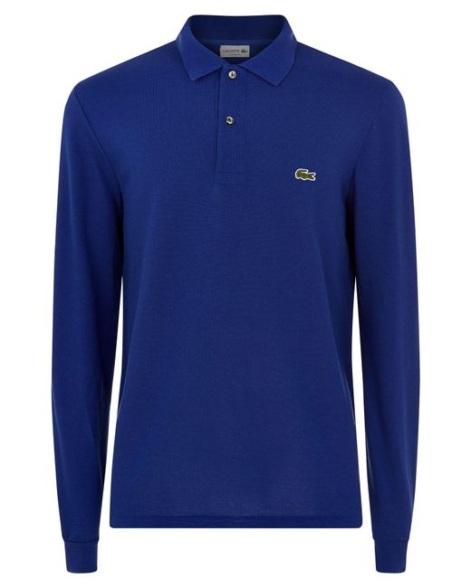 Lacoste | Blue Long Sleeve L.12.12 Polo for Men | Lyst