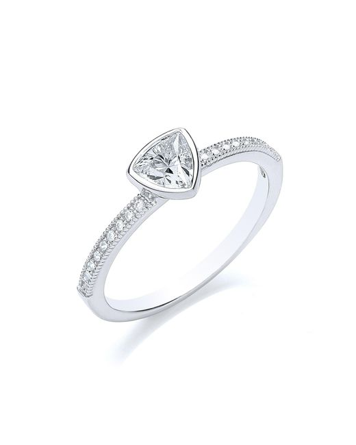 Bouton | Metallic Stacker Ring Trillion | Lyst
