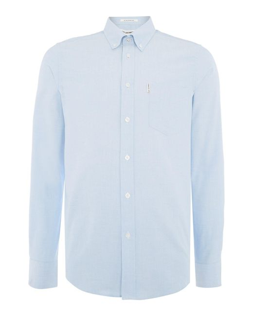 Ben Sherman | Blue Classic Oxford Long Sleeve Shirt for Men | Lyst