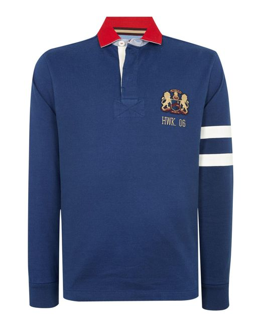 Howick | Blue Freemont Rugby Top for Men | Lyst