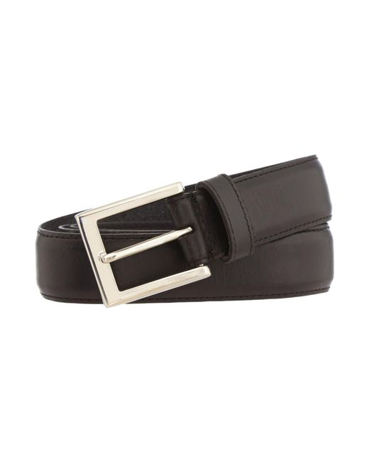 Howick | Black Leather Stitched Belt for Men | Lyst